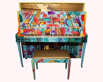 Hand painted piano