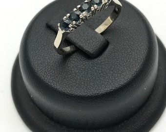 5 Sapphire GOLD ring