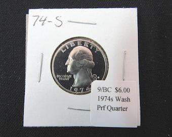 Vintage Coin 1974s Washington Quarter Proof MS65 - Collectible Clad Uncirculated Quarter