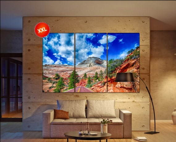 Zion Canyon National Park  canvas Zion Canyon wall decoration Zion Canyon canvas art Zion Canyon large canvas  wall decor