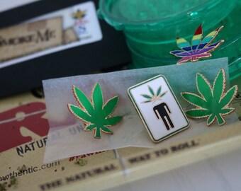 Head High Enamel Weed Pin