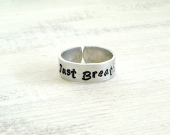 Just Breathe adjustable ring