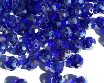 how hard shiny blue crystal glass 10 mm 50 beads