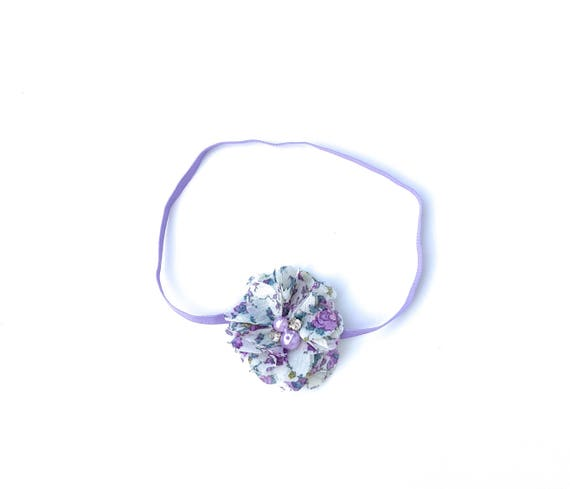 Lilac Headband, Headbands for Babies, Flower Headband for Girls, Flower Headband, Baby Headband Baby, Infant Headbands, Newborn Headband