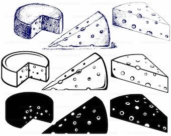 Cheese svg/cheese clipart/cheese svg/cheese silhouette/cheese cricut/cheese cut files/cheese clip art/digital download/svg/designs