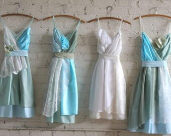 Custom Boho Bridesmaids Dresses in Your Choice of Palette & Accents