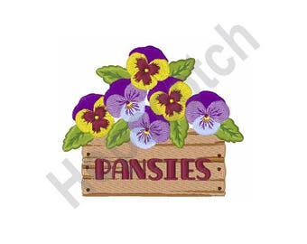 Pansy Flowers - Machine Embroidery Design, Pansies
