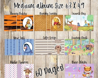 Medium 6.2 in. X 4.9 in. Sticker Albums. Ready to ship. 60 pages! Choose your cover!