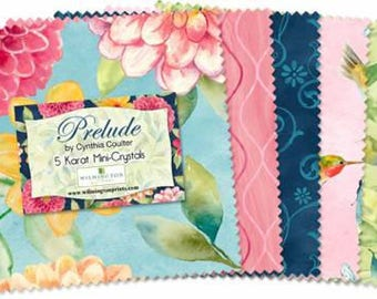 Prelude 5 Inch Squares Charm Pack, 24 Piece, Cynthia Coulter, Wilmington Prints, Precut Fabric, Quilt Fabric, Cotton Fabric,Floral Fabric
