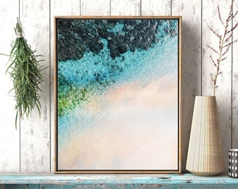 Coastal printable art, Abstract coastal art, ocean wall art, Turquoise Blue Aqua art, abstract coastal artwork, Ocean printable art,