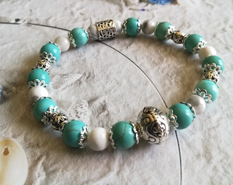 Bracelet Turquoise and Howlite