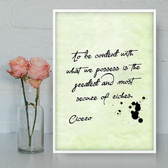 Citaten Cicero : Cicero citaten afdrukbare wall art dankbaarheid