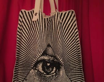 All Seeing Eye extra large sturdy tote bag