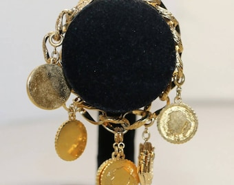 Monet Gold Filled Charm Bracelet
