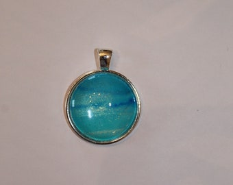 Turquoise Wave Orb Necklace