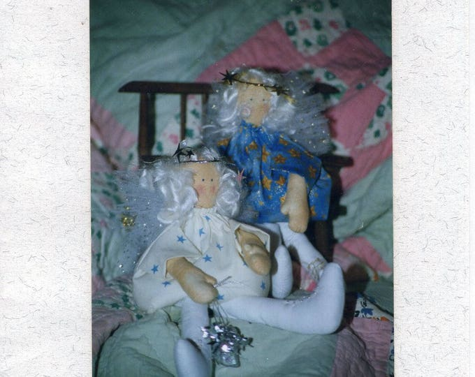 """Free Us Ship Craft Sewing Pattern Unused Aunty Ann 12"""" Soft Cloth Country Fairy Doll 1993 Out of Print"""