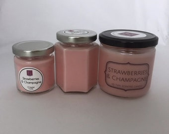 Strawberries & Champagne Soy Candle