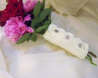 Bouquet Wrap, Bridal Floral Wrap, Hand Crochet, Cream, Victorian, Lace, Ready to ship, Wedding Accessory, Bridal Accessory