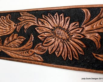 Traditional tooled cuff