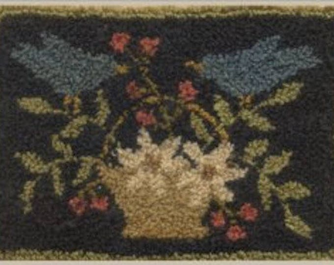 """Pattern: Punchneedle """"Bluebirds & Blooms"""" - With Thy Needle and Thread - Country Stitches - Brenda Gervais"""
