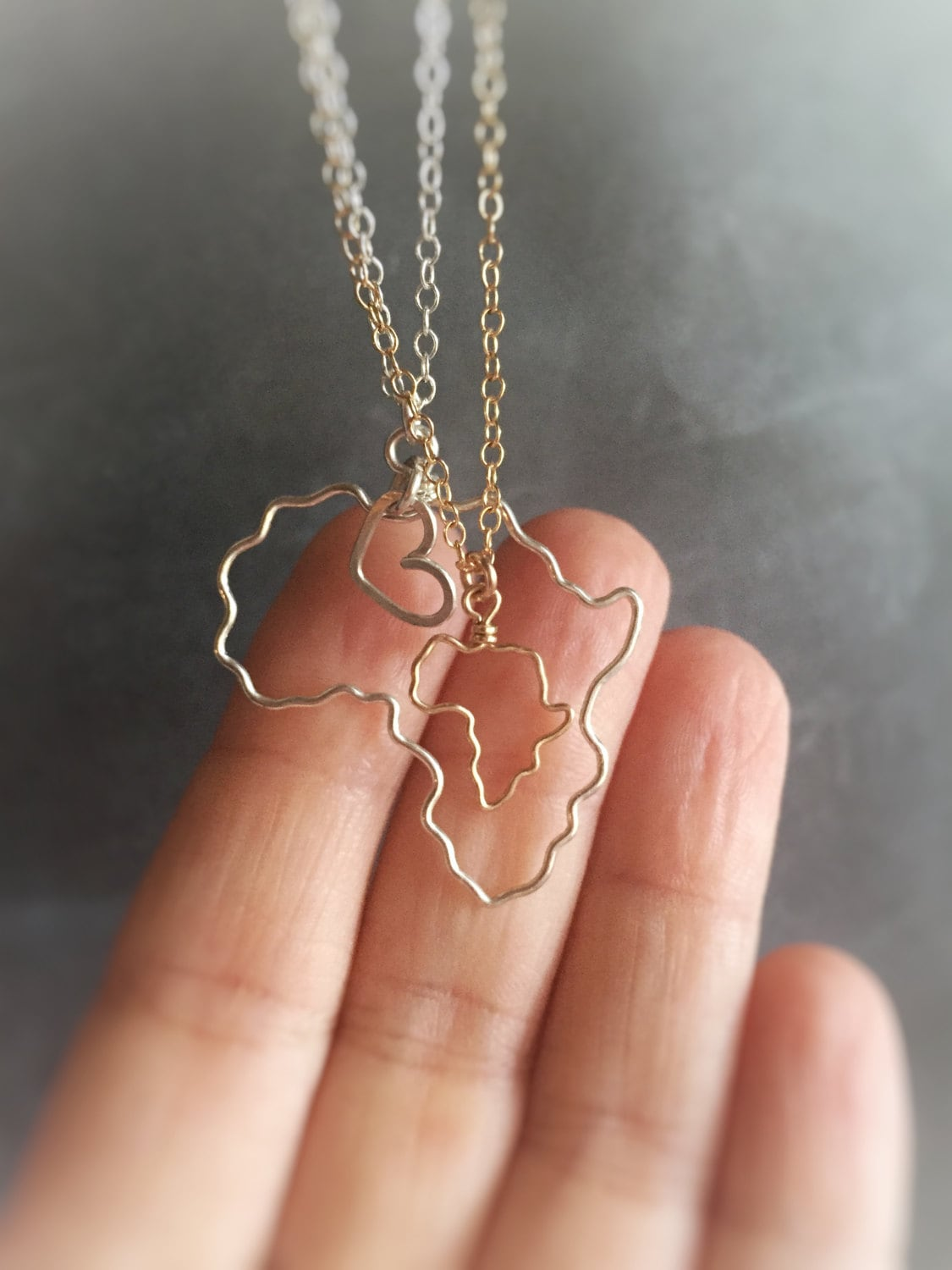 Africa necklace africa outline necklace gold africa zoom audiocablefo
