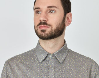 ON SALE Fossil Shirt, 100%cotton, waterbased print, SS17