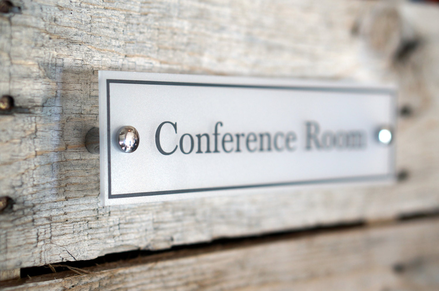 🔎zoom & Door Name plate Acrylic Conference Room Sign Office Decor Wall