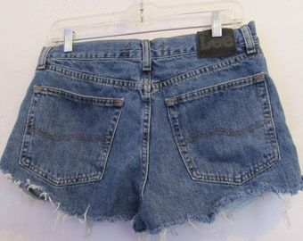 Men's,UPCYCLED Blue DAISY DUKE Style Shorts By Lee.32W(11)