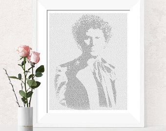 Dr Who Text Art, The Sixth Doctor Who Wall Art, Colin Baker Whovian Gift for Men, Sci Fi Print (US)