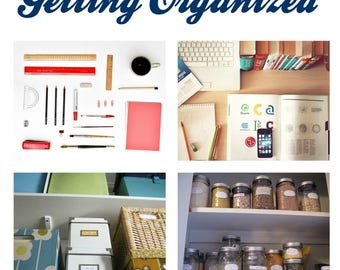 The Art Of Getting Organized ebook, Organization ebook, Instant Download