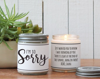 I'm So Sorry Soy Candle Gift - Sympathy Gift | Apology Gift | Sorry Gift | Condolence Gift | Loss Gift | Divorce Gift | Break Up Gift