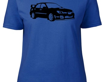 Impreza Hawkeye. Subaru. Ladies semi-fitted t-shirt.