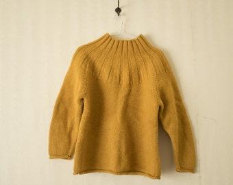 Vintage J Crew Mustard yellow Mock Neck