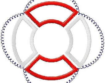 Life Preserver Applique Embroidery Design