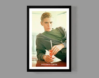 The Outsiders Movie Poster - Ponyboy Curtis Print Portrait - Stay Gold Ponyboy Greasers - Cult Classic Teen Drama Film 80's Retro