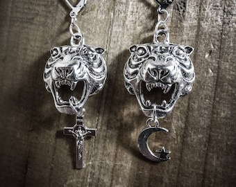Witchy Tiger Silver earrings