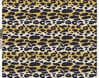 Animalia Exotica in Sand - Indigo & Aster by bari j. - Art Gallery - knit fabric - half yard or more