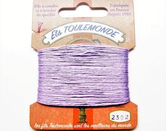"Cotton threads to embroider ""Retors du Nord"" numbert 2302, purple, 20 meters"