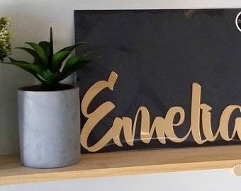 Custom Laser Cut Name Plaque, Sign for wall or shelf, Laser Cut Sign, Laser Cut Kids Name, Laser Cut Home Decor, Laser Cut Wall Decor