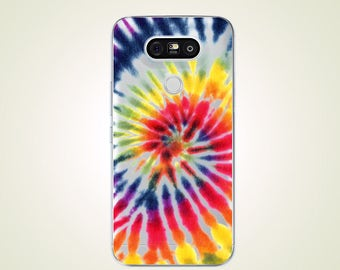 Tie Dye Transparent TPU Soft case for LG G2 case G3 case G4 case G5 case G6 case Nexus 5 case Nexus 5X case V10 case V20 case