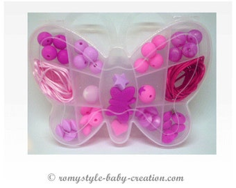 Butterfly gift box silicone beads