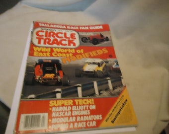 Vintage June 1983 Petersen's Circle Track Wild World Of East Coast Modifieds Magazine Volume 2 Number 4, collectable