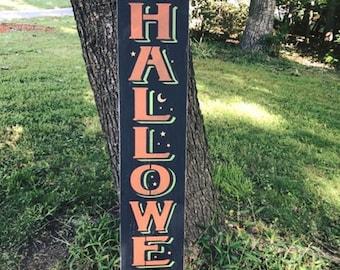 Primitive Halloween Wood Sign
