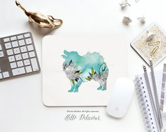 "Mouse Pad ""Pomeranian"" by Iveta Abolina Mousepad Mouse Mat Dog Mouse Pad Office Mousemat Rectangular Mousemat Mousepad Round 56."