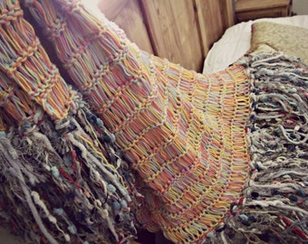 Eclectic Decor Afghan, Eclectic Home Decor Multi Color Housewares Throw Blanket
