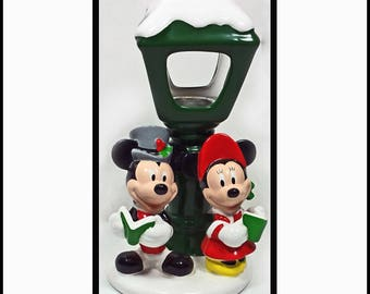 DISNEY MICKEY and MINNEY Candle Holder from Teleflora - Collectable
