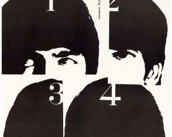 Beatles - Rare Polish Poster for A Hard Day's Night (United Artists, 1964).