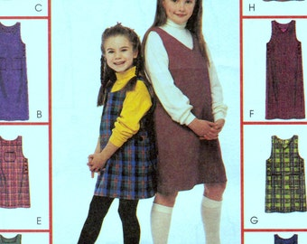 Girls' Jumpers Sewing Pattern McCall's 2313 Girls' Jumpers Size 10-12-14 Uncut Complete