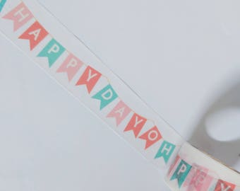 Oh Happy Day Washi Tape Sample