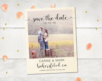 """Wedding Save The Date Magnets - HeathrowPark Cute Photo Save The Date Ideas Personalized 4.25""""x5.5"""""""